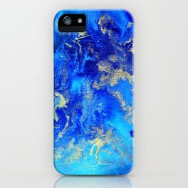Blue & Gold Abstract II d171011 iPhone Case