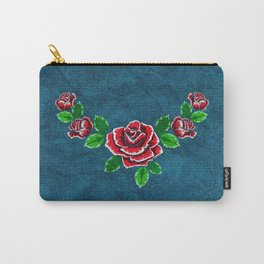 Red embroidered rose Carry-All Pouch