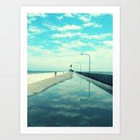 Breakwater Lighthouse Art Print