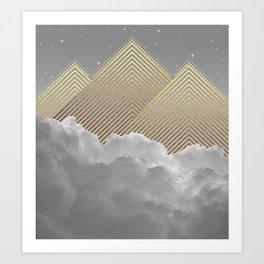 Silence is the Golden Mountain Art Print