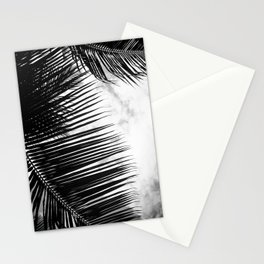 maui paradise palms hawaii monochrome Stationery Cards