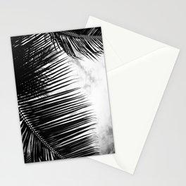 maui paradise palms hawaii monochrome Stationery Cards