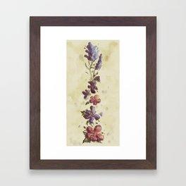 Bluebonnet, Violet and Hibiscus Framed Art Print