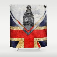 uk Shower Curtains featuring Flags - UK by Ale Ibanez
