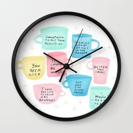 Disapoiment mugs Wall Clock