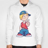 hip hop Hoodies featuring Hip Hop Cartoon Boy by pixaroma