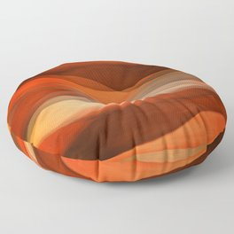 """Sea of sand and caramel waves"" Floor Pillow"