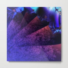 Pleated fantasy forest Metal Print