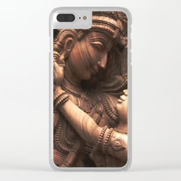 Eternal Love Story - Krishna with Radha Clear iPhone Case