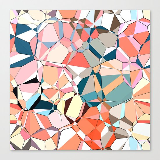 Jumble of Shapes And Colors Canvas Print