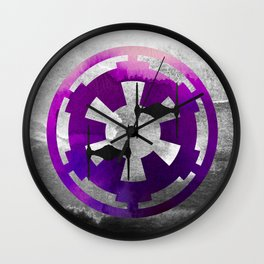 Star Wars Imperial Tie Fighters in Purple Wall Clock