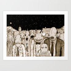 Innsmouth Meeting Art Print