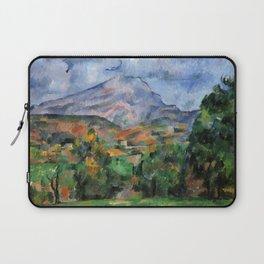 """Paul Cezanne """"Mont Sainte-Victoire"""", c.1890 Laptop Sleeve"""