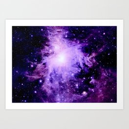 Orion nebUla. : Purple Galaxy Art Print