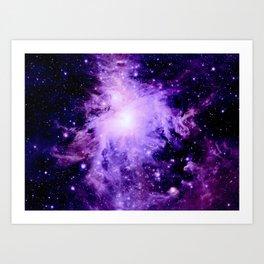 Orion nebUla. : Purple Galaxy Art Print
