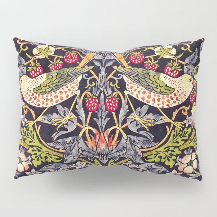 William Morris Strawberry Thief Art Nouveau Painting Pillow Sham