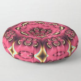 Fantasy flower kaleidoscope with optical effects Floor Pillow