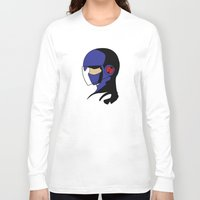megaman Long Sleeve T-shirts featuring Enforcer Megaman by DonCorgi