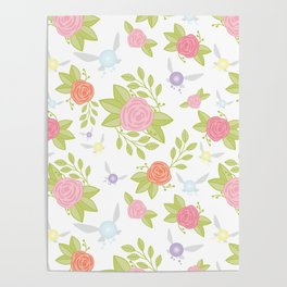Garden of Fairies Pattern Poster