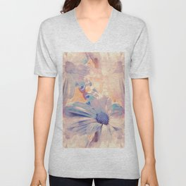 Floral Abstract Unisex V-Neck
