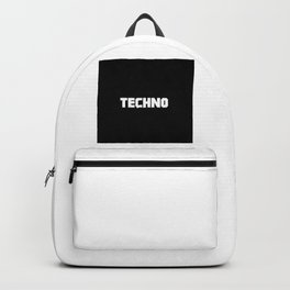 Techno rave music quote Backpack
