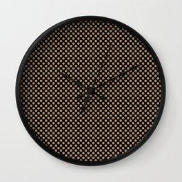 Black and Iced Coffee Polka Dots Wall Clock