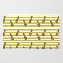 Fun with Pineapples stripes Rug