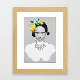 Dame with the lemons  Framed Art Print