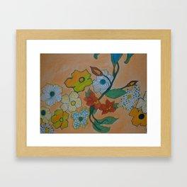 Flowery Chain Framed Art Print