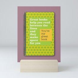 Great books like you magenta Mini Art Print