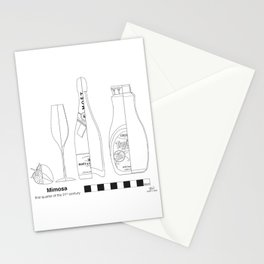 Mimosa with Strawberry - Archaeological Drawings Stationery Cards