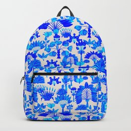 Exotic Garden - Blue Backpack