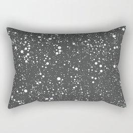 Chaotic circles pattern. Dark Grey. Rectangular Pillow