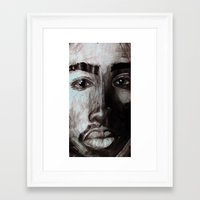 tupac Framed Art Prints featuring Pop Cult™ - Tupac  by Lina Barbarin - Pop Cult™ & Aminals™