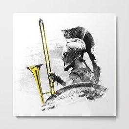 Trombone Warrior Metal Print