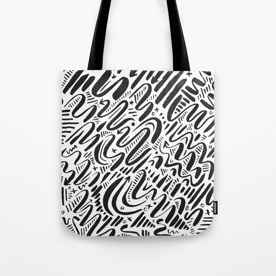 SQUIGGLY WIGGLY Tote Bag