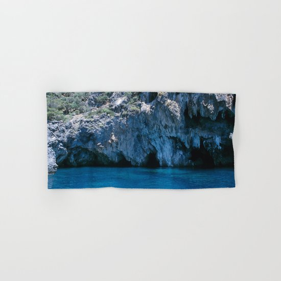 NATURE'S WONDER #4 - BLUE GROTTO #art #society6 Hand & Bath Towel