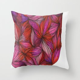 brightly blooming full Throw Pillow