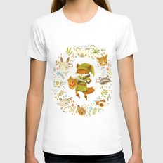 The Legend of Zelda: Mammal's Mask LARGE Womens Fitted Tee White
