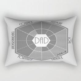 The Dad Blueprint Rectangular Pillow