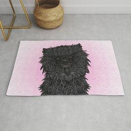 Black Pomeranian Rug