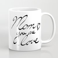 mom Mugs featuring mom by BALE AND TWINE