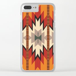 American Native Pattern No. 39 Clear iPhone Case
