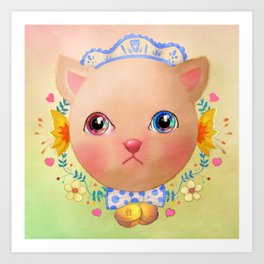 Cat you put the universe in the eyes Art Print
