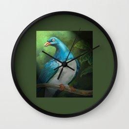 NZ Native Pigeon Kereru Wall Clock