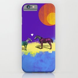 Heart and horses iPhone Case