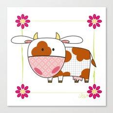 Little cow Canvas Print