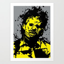 August 18, 1973: Bloodstain Leatherface (color combination E) Art Print