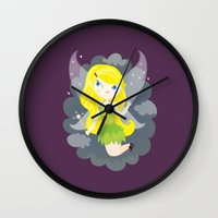 fairy Wall Clocks featuring Fairy by Maria Jose Da Luz