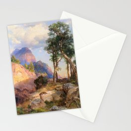 12,000pixel-500dpi - Mountain Lion In Grand Canyon - Thomas Moran Stationery Cards